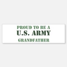 Proud Army Grandfather Bumper Car Car Sticker