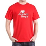 I Love Jewish Boys Dark T-Shirt