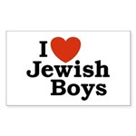 I Love Jewish Boys Rectangle Sticker