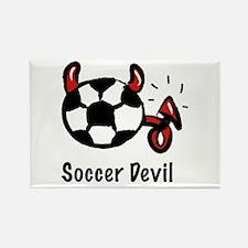 Soccer Devil Rectangle Magnet