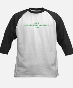 Central Asian Ovtcharka thing Kids Baseball Jersey