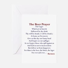 Beer Prayer, Beer Humor Greeting Cards (Pack of 6)