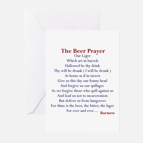 Beer Prayer, Beer Humor Greeting Cards (Pack of 6)