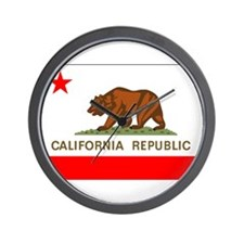 California Flag Wall Clock