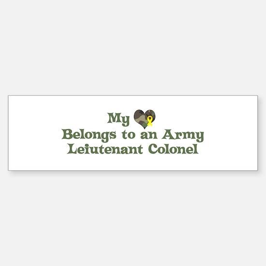My Heart: Leiutenant Colonel Bumper Bumper Bumper Sticker
