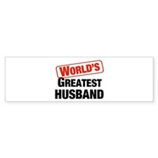 World's Greatest Husband Bumper Bumper Sticker
