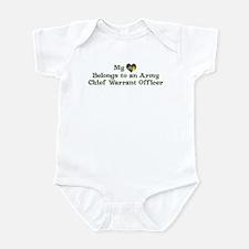 My Heart: Chief Warrant Offic Infant Bodysuit