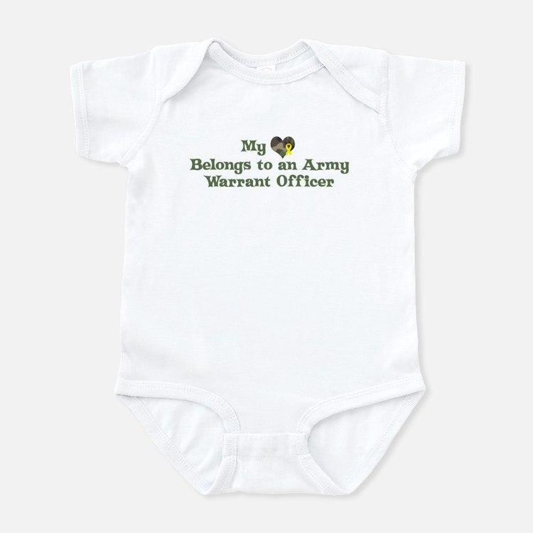 My Heart: Warrant Officer Infant Bodysuit
