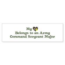 My Heart: Army Command Sergea Bumper Bumper Sticker