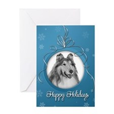 Elegant Collie Holiday Card