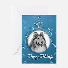 Elegant Collie Holiday Card