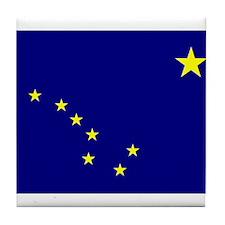 Alaska Flag Tile Coaster