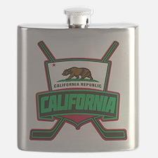 California Hockey Logo Shield Flask