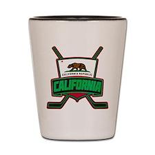 California Hockey Logo Shield Shot Glass