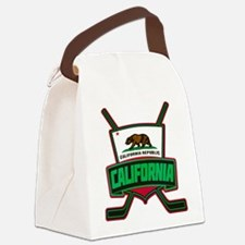 California Hockey Logo Shield Canvas Lunch Bag