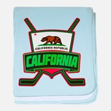 California Hockey Logo Shield baby blanket