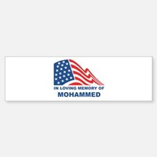 Loving Memory of Mohammed Bumper Bumper Bumper Sticker