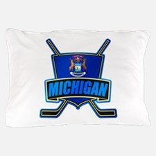 Michigan Hockey Shield Logo Pillow Case