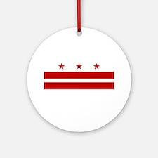 DC Flag Ornament (Round)