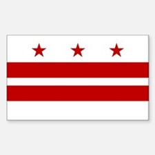 DC Flag Rectangle Decal