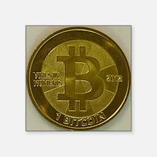 """Casascius Bitcoin Square Sticker 3"""" x 3"""""""