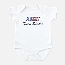 Army Twin Sister (Patriotic) Infant Bodysuit