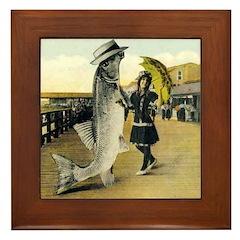 Giant Fish Framed Tile
