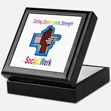 Cool Social work month Keepsake Box
