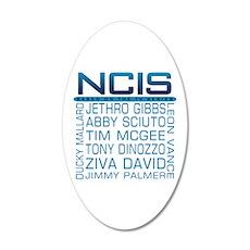 NCIS Logo Characters Names Wall Decal