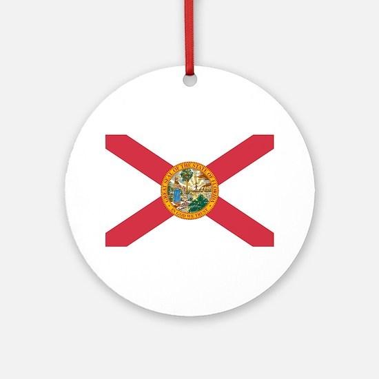 Florida Flag Ornament (Round)