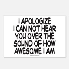 SOUND OF HOW AWESOME I AM Postcards (Package of 8)