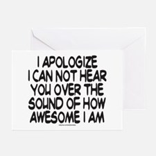 SOUND OF HOW AWESOME I AM Greeting Cards (Pk of 20