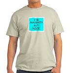 I'M NAUGHTY BUT NICE Ash Grey T-Shirt