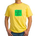 I'M NAUGHTY BUT NICE Yellow T-Shirt