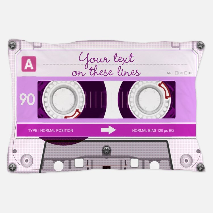 Cassette Tape - Pink Pillow Case
