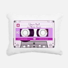 Cassette Tape - Pink Rectangular Canvas Pillow