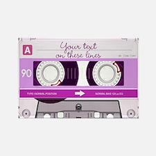 Cassette Tape - Pink Rectangle Magnet