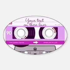 Cassette Tape - Pink Sticker (Oval)