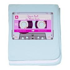 Cassette Tape - Pink baby blanket