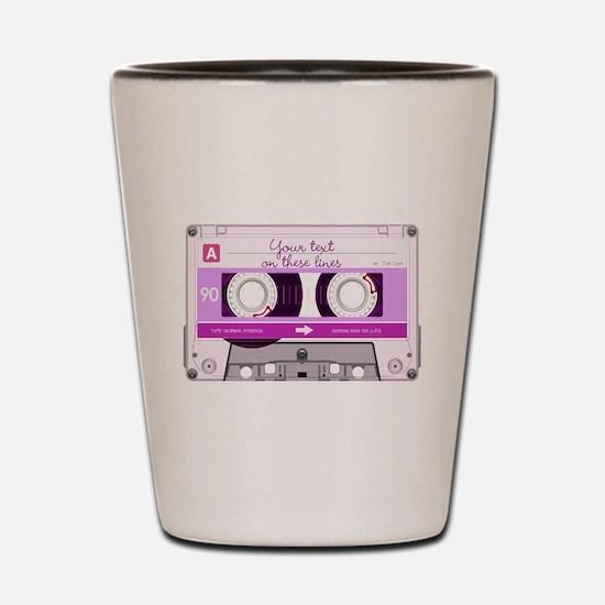 Cassette Tape - Pink Shot Glass