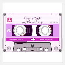 Cassette Tape - Pink Invitations