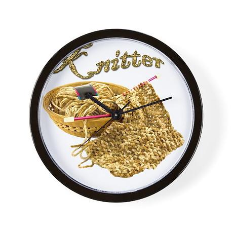 Knitter - Hand Knit Chenille Yarn Wall Clock