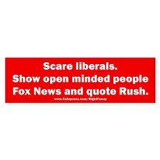 Scare Liberals Bumper Sticker