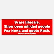 Scare Liberals Sticker (Bumper)