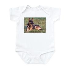 Funny German sheppards Infant Bodysuit