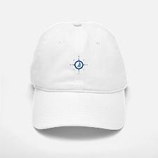 Sailboat And Blue Compass Baseball Baseball Baseball Cap