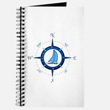 Sailboat And Blue Compass Journal