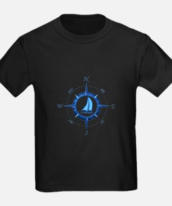 Sailboat And Blue Compass T-Shirt