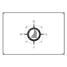 Sailboat and Compass Rose Banner