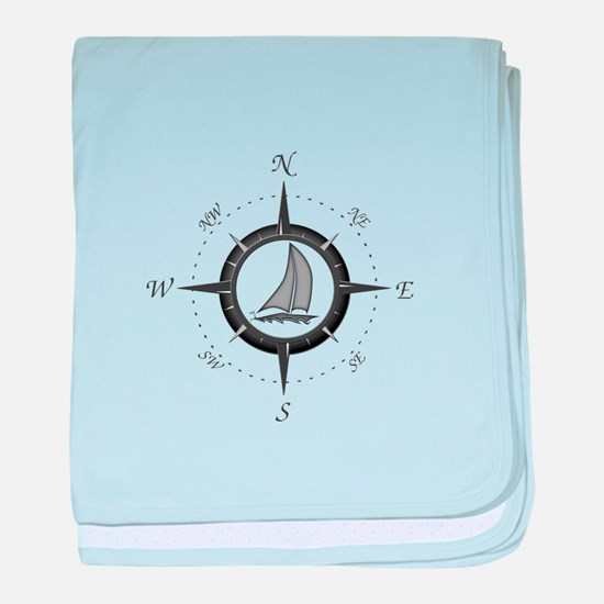 Sailboat and Compass Rose baby blanket